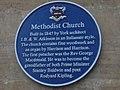 Blue plaque on Boston Spa Methodist Church (27th November 2019).jpg