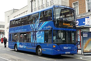 Bluestar (bus company) - Scania OmniCity in Southampton in May 2009