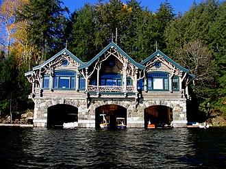 Camp Topridge - Image: Boathouse 2 at Topridge