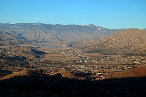 Bodfish, California - View of Bodfish from Caliente-Bodfish Road in the hills west of town