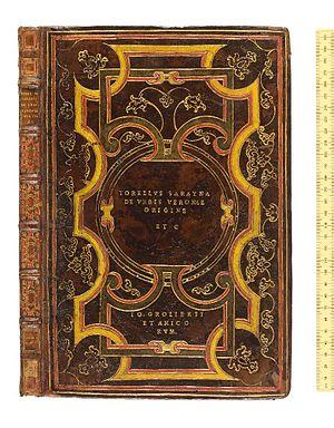 Jean Grolier de Servières - Bookbinding showing Grolier's supralibros Io. Grolieri et Amicorum
