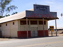 An abandoned building in Bond's Corner