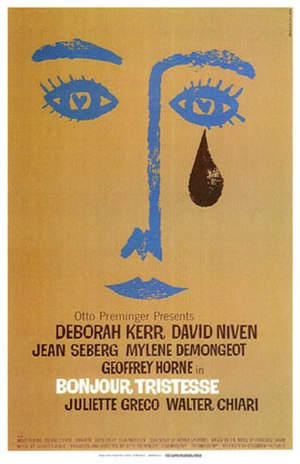 Bonjour Tristesse (film) - Film poster, designed by Saul Bass