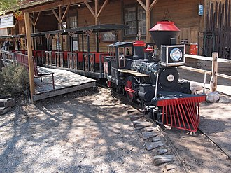 Bonnie Springs Ranch - Miniature train ride at the entrance to Old Nevada