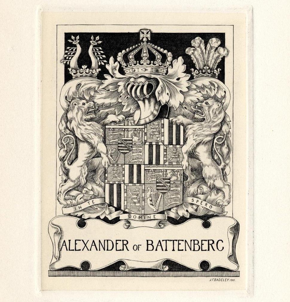 Bookplate-Alexander of Battenberg