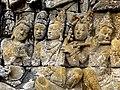 Borobudur - Lalitavistara - 001 E, Bodhisattva in Tusita Heaven amongst the Gods (detail 3) (11248232633).jpg
