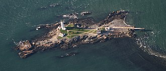 Little Brewster Island - Aerial view of Little Brewster Island and  Boston Light, 2010