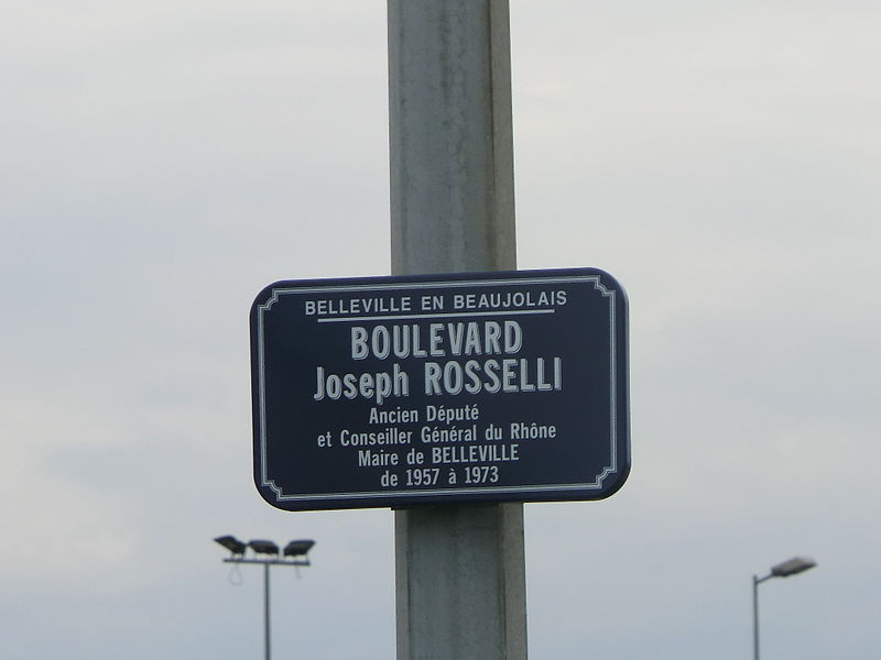 Boulevard Joseph-Rosselli à Belleville (Rhône).