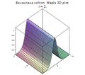 Boussinesq soliton Maple 3D plot.png