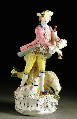 Bow porcelain factory - Figure following a Meissen model, about 1754, Bow Porcelain Factory (V&A Museum no. C.144-1931