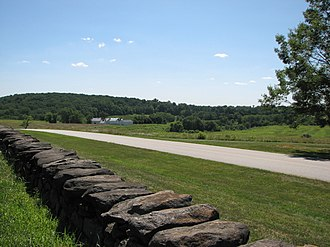 Brandywine Creek State Park - Farm, field and forest near the park headquarters.