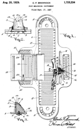 76176b27739 Drawing of a Brannock Device (from U.S. Patent 1,725,334)