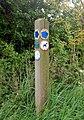 Bridleway marker, Broadwell - geograph.org.uk - 1307473.jpg