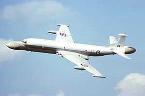 A side view of a Nimrod MRA4 in flight