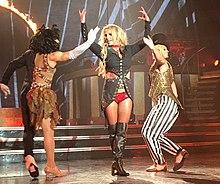 Spears performing