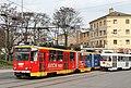 Brno, Nádražní, Tatra KT8D5R.N2 č. 1710 a Tatra K2P č. 1031 (2013-04-27; 01).jpg