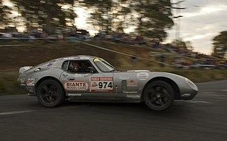 Targa West - Daytona Coupe that, Peter Brock died in (shown driven in Targa Tasmania)