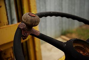 Aged rusty Brodie knob, or steering wheel spin...