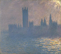 Brooklyn Museum - Houses of Parliament Sunlight Effect (Le Parlement effet de soleil) - Claude Monet