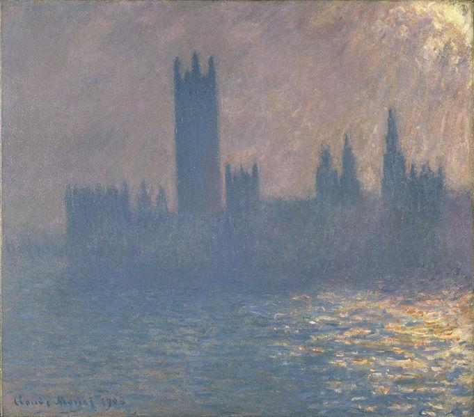 File:Brooklyn Museum - Houses of Parliament Sunlight Effect (Le Parlement effet de soleil) - Claude Monet.jpg