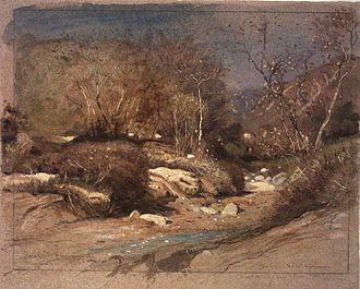 Samuel Colman - Late November in a Santa Barbara Cañon, California – Brooklyn Museum