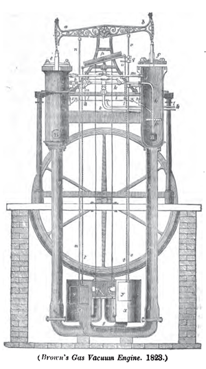 Samuel Brown (engineer) - Brown's Gas Vacuum Engine 1823