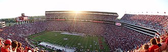 2008 Alabama Crimson Tide football team - Image: Bryant Denny Stadium panorama 2