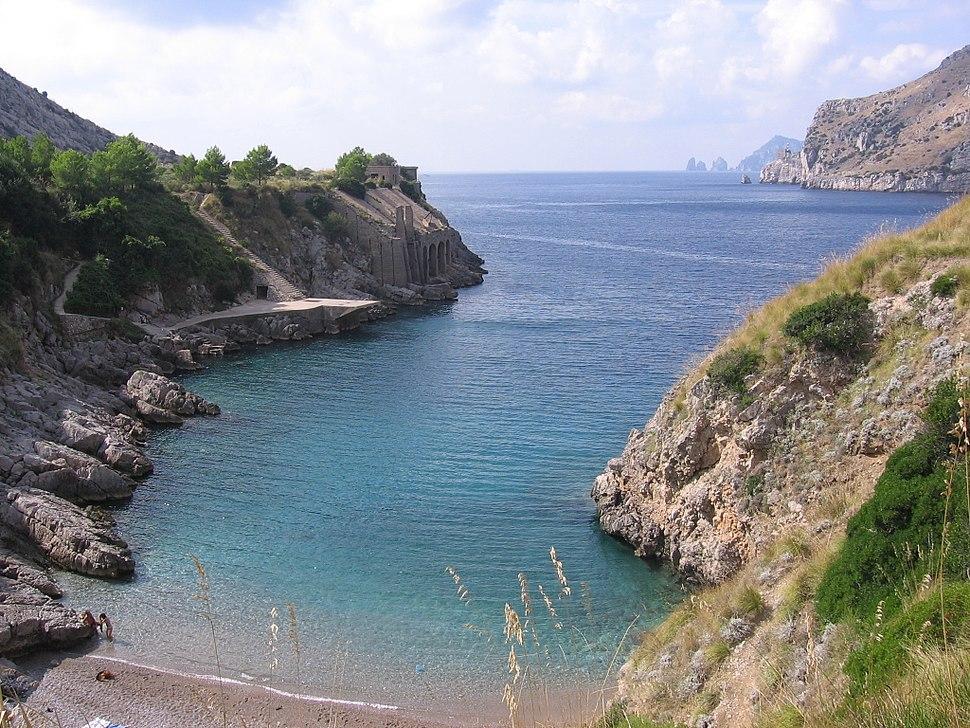 Bucht am Golf von Neapel