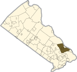 Location of Lower Makefield Township in Bucks County