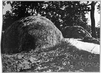 Syenite - Boulders of syenite near Concord, North Carolina, c. 1910.