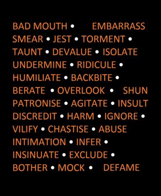 Bullying - Bullying synonyms