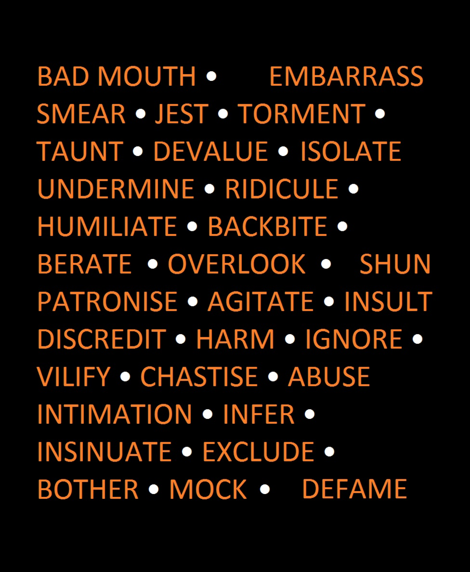 Bullying synonyms
