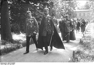 Prince Oskar of Prussia - Prinz Oskar (center) in procession with the Johanniterorden, 1924