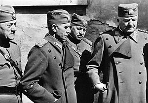 Invasion of Yugoslavia - Captured Yugoslavian officers before their deportation to Germany.