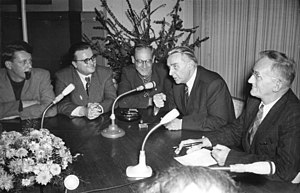 Otto Braun (communist) - Otto Braun in 1954 (in the middle wearing glasses)