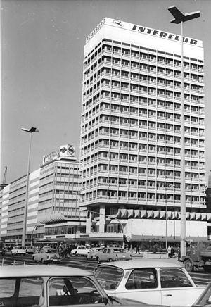 Interflug - The Interflug office, Haus des Reisens, near Alexanderplatz in central East Berlin (1971)