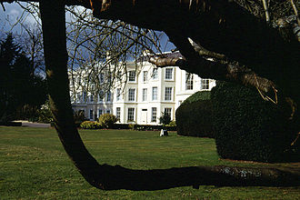 Farnham Royal - Hotel with adjacent golf course and forest narrowly within the parish boundary