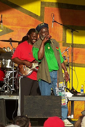 Burning Spear performs at the New Orleans Jazz...