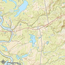 Topography of Burr Ferry