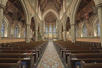 Church of St Mary the Virgin, Bury - The interior of the church