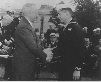 Robert Eugene Bush - President Truman presenting the Medal of Honor to Robert E. Bush