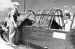 Bush Field - Flight Instructor and Aviation Cadet before takeoff.jpg