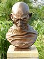 Bust of Mahatma Gandhi, Saughton Park, Edinburgh (1997).jpg