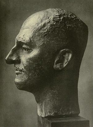 T. E. Hulme - Bust of T. E. Hulme by Jacob Epstein.