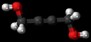 1,4-Butynediol - Image: Butynediol 3D balls