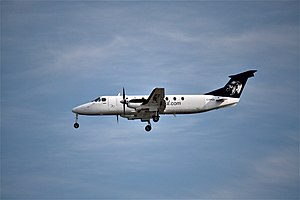 Pacific Coastal Airlines - A Beechcraft 1900C, flown by Pacific Coastal Airlines, landing at Vancouver International Airport