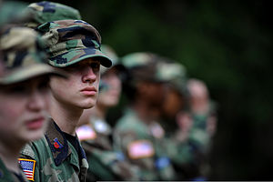 Civil Air Patrol - Cadets listen to instructions during a field exercise