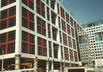 Canadian Broadcasting Centre - CBC headquarters under construction 1991