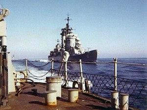 USS Columbus (CA-74) - Columbus during her 1968 Mediterranean cruise