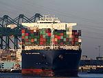 CMA CGM Laperouse (ship, 2010), Deurganckdok, Port of Antwerp, Belgium, pic1.JPG